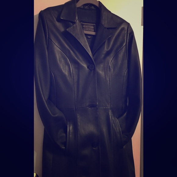 Oakwood Jackets & Blazers - Black Leather Full Length Coat